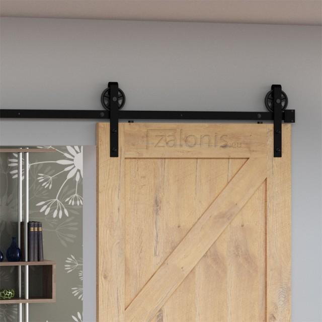 BARN DOOR RAIL 200cm/300cm BLACK D.120